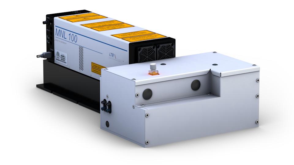 ATM SHG dye laser