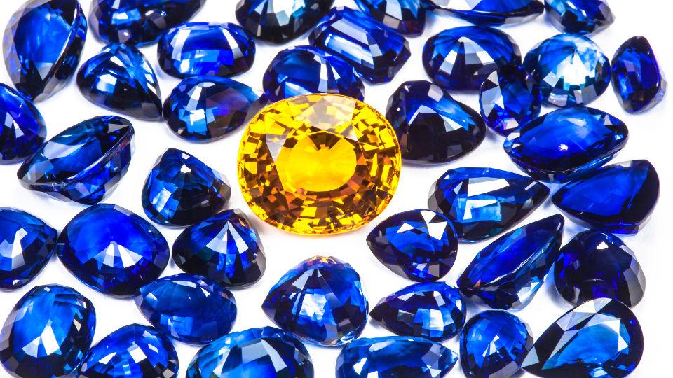 Edelsteinanalyse Saphir blau