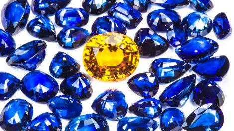 Gemstone analysis sapphire blue