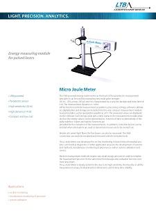 Joule Meter Datenblatt Vorschau