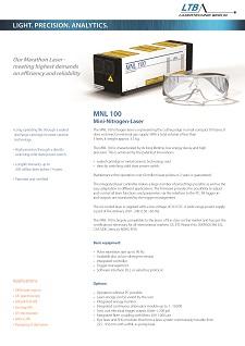 MNL 100 Datenblatt Vorschau