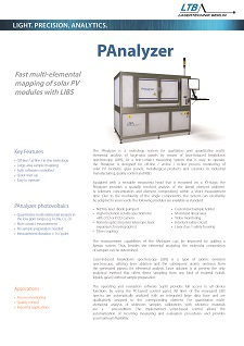 PAnalyzer data sheet preview