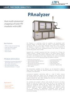 PAnalyzer Datenblatt Vorschau