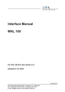 MNL 100 Interface Manual